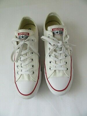 47bb4507df937b CONVERSE UK 9 Eu 42.5 White All Star 70 s Low Canvas Trainers Chuck ...