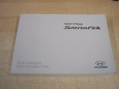 HYUNDAI SANTA FE Owners Manual Handbook Wallet Audio Service Book
