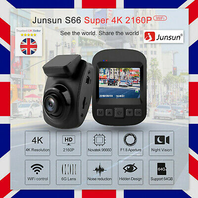 4K Junsun Ultra 2160P ADAS Dash Cam UHD Ultra Recording Car DVR Camera WiFi GPS
