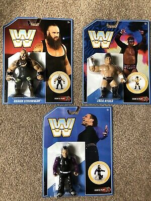 WWE Mattel Retro figure series 8-Lot Of 3-BRAUN STROWMAN, ZACK RYDER, JEFF HARDY