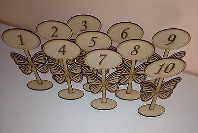 Wooden Freestanding Table Numbers/balloon Weights-wedding , Party, Craft Mdf