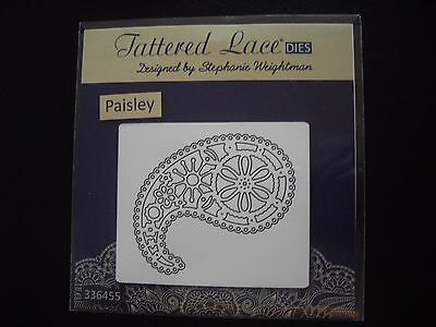 RARE FREE UK P/&P D686 NEW Tattered Lace /'PAISLEY/' Die