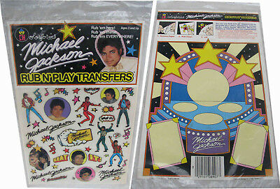Michael Jackson Rub N Play Transfer Set Colorforms Sticker Stickers 1984 NEW