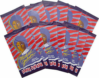 Michael Jackson Carte Autocollant TOPPS GIANT Sticker Collection Card 1984