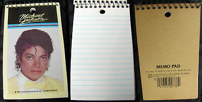 Michael Jackson CARNET Bloc-notes Memo Pad Spiral Notepad OFFICIAL 1984
