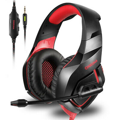 ONIKUMA K1 Mic Stereo Bass Gaming Headset Headphone For Laptop PS4 Xbox One Y4V0