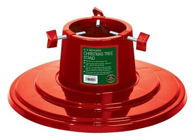 Garland 4 inch / 5 inch Plastic Christmas Tree Stand - Red