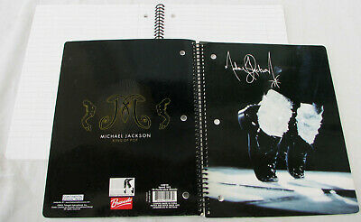 Michael Jackson CAHIER à spirales Large Spiral Notebook Diary OFFICIAL 2010 NEW