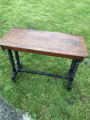 Vintage/Antique Edwardian Console/ Side Table Walnut Finish, Twist Legs