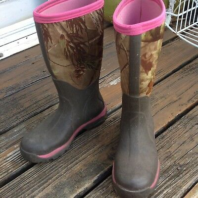 Muck Boots Company Woody Max Break Up Camo Womens 5 36 Brown Rain Tall Wellies