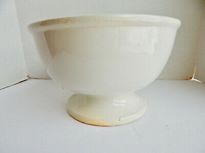 Antique Ironstone China Pedistaled Punch Bowl By John Moses & Son Co. 10 1/2''
