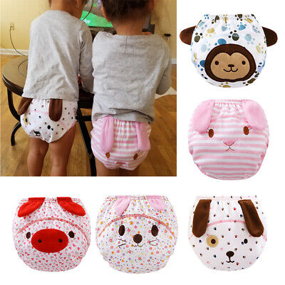 Baby Girls Boys Kids Waterproof Training Pants Diaper Underwear Washable Nappy