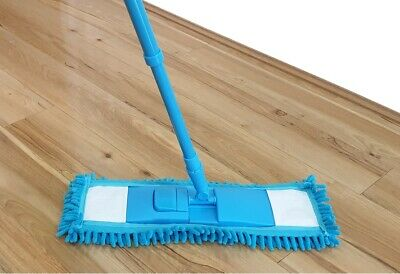 Extendable MICROFIBRE MOP CLEANER SWEEPER WOODEN LAMINATE TILE FLOOR WET or DRY