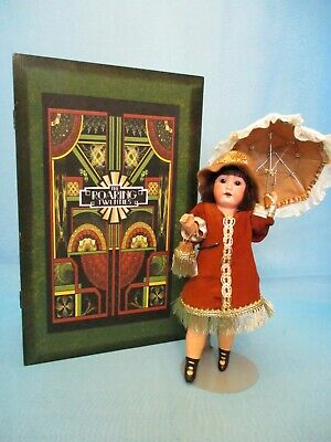 "Antique 8"" Bisque Head Doll Germany 390 A 12/0 X in OOAK Flapper Trousseau Box"