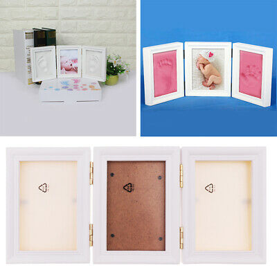 Newborn Baby Handprint and Footprint Photo Frame Kit with Clean-Touch Ink Pad