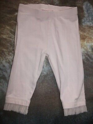 Next Baby Girls Pink Leggings with Netting Hem - Age 6-9 Months
