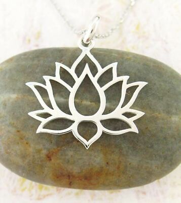 Lotus Flower Blossom Necklace Sterling Silver Yoga Jewelry Meaning