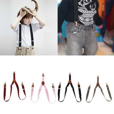 Toddler Clip-On Suspenders Elastic Y-Shape Adjustable Braces For Kids Boy Girl