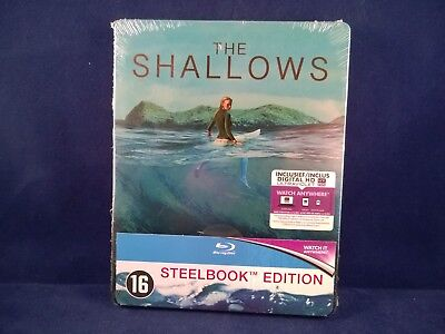 THE SHALLOWS - Steelbook - Bluray - Benelux Exclusive - Neuf - FR / NL