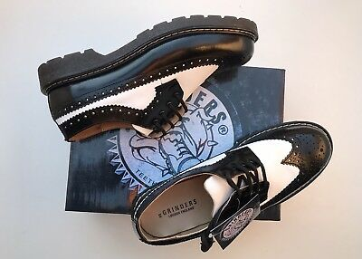 BNIB Bertrum, Men's Brogue BLACK/ WHITE size UK 12 fit 11 Guaranteed Original