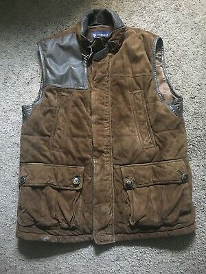 54a0dc17b8 Mens Brown DANIEL CREMIEUX leather suede vest jacket heavy duty Hunting  MEDIUM