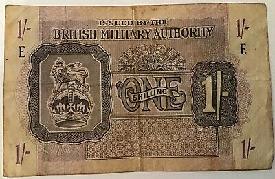 WW2 British Military Authority 'One Shilling' Banknote