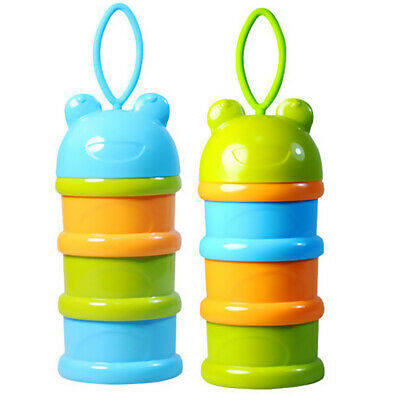 Portable Baby Infant Feeding Milk Powder &Food Bottle Container 3 Cells Grid Box