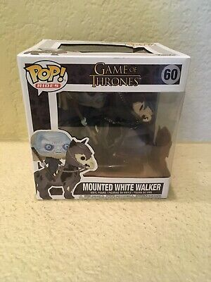 Funko Pop! Rides Game of Thrones Mounted White Walker #60 Vinyl Figure  In Hand
