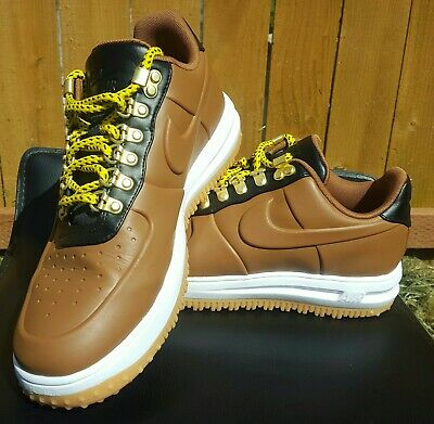 Nike LF1 Lunar Force 1 Duckboot Low Brown White Shoes AA1125-200 Size 9.5 Mens