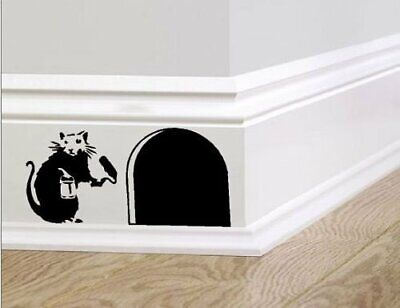 Family Mouse Bansky Art Sticker Vinyl Decal Mice Home Skirting Board Removable