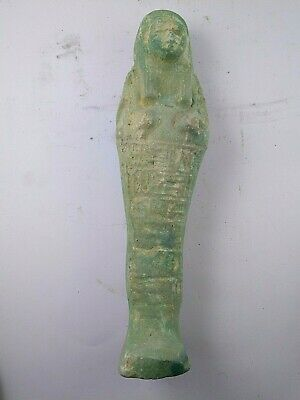 RARE ANCIENT EGYPTIAN ANTIQUE USHABTI Statue Limestone 1217-1155 BC