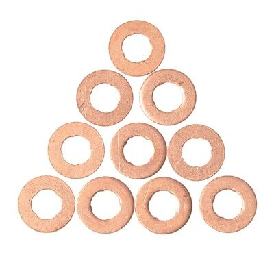 10x Copper Diesel Fuel Injector Shim Washers Gaskets for Volvo S60 S80 V70