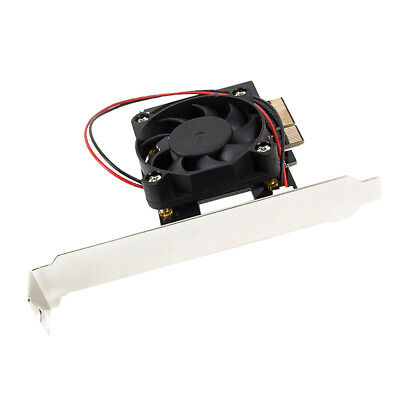 M.2 NGFF PCIe 4 LANE SSD to PCIE 3.0 x4 adapter with Fan for LITE-ON IT M6E