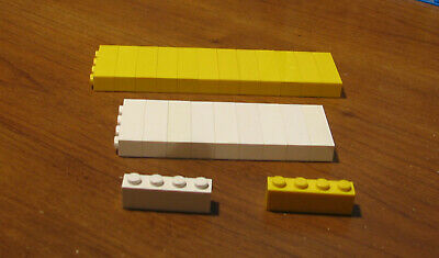 70 LEGO  LOT  YELLOW  BRICK  1X4  THICK  TALL     LOT OF #  3010