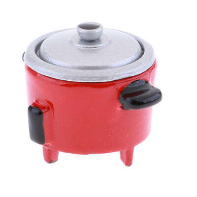 Modern Electric Cooker Toy Dollhouse Miniature Kitchen Appliance Decor Red