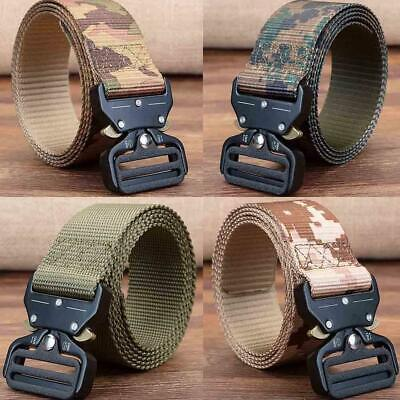 Tactical Heavy Duty Soldier Mens Military Belt Web Combat ArmyTraining Belt
