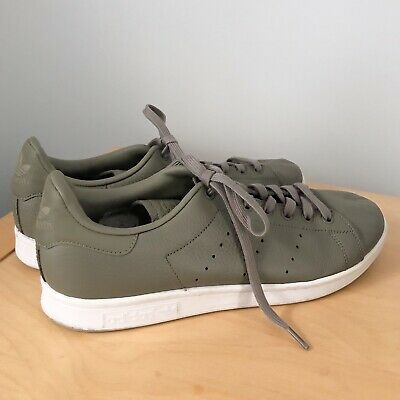 6612b1d9cd8 Adidas Originals Stan Smith Mens Size US 11 Khaki Green Leather Shoes  Sneakers