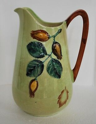CARLTON WARE Hazelnut pitcher Australian Design green milk jug leaf hand painted