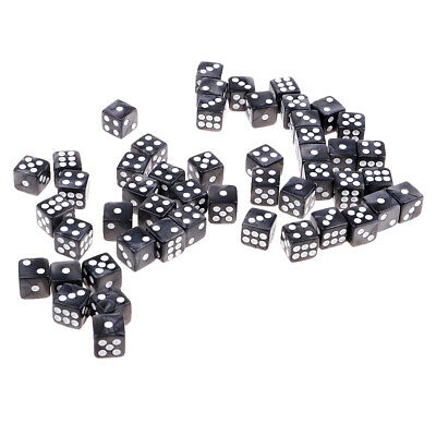 50pcs/lot 12mm D6 Acrylic Dice Toy Pack for RPG MTG Game Accessories Gray