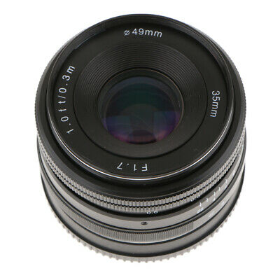 35mm-f/1.7 Large Aperture Manual Focus Lens for Sony E Mount Mirrorless Cam