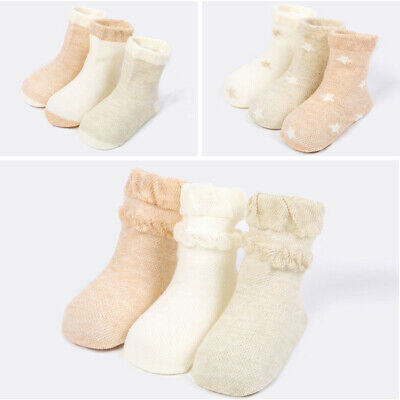 3 Pairs Baby Boy Girl Cotton Summer Socks Toddler Kids Soft Thin Sock