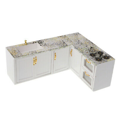 1:12 Scale Dollhouse Kitchen Accessories Furniture Cooking Bench Cupboard