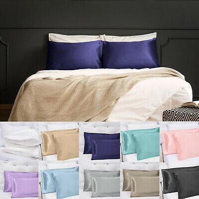 Soft Silky Satin Pillow Cases Great For Hair and Skin With Envelope Closure CA