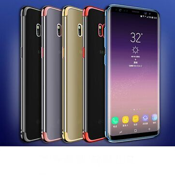 Shockproof TPU Plating Clear Phone Case Cover For Samsung A3 A5 A6 A7 J3 J5 J7