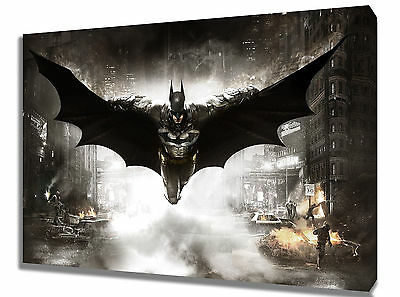 Wall Art Canvas Picture Print of Batman Arkham Framed Ready to Hang