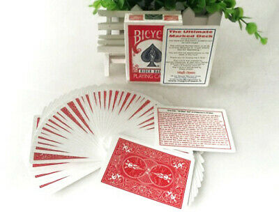 Ultimate Marked Deck (Red back) Card Magic Tricks Close up Magic Illusions Fun