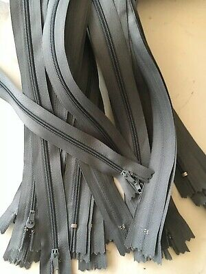 "cushion zips Grey 22"" X 10 Zips"
