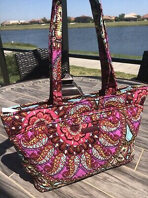 4dfc692d4 New Vera Bradley Mandy cotton quilted Tote Shoulder Bag in Resort Medallion