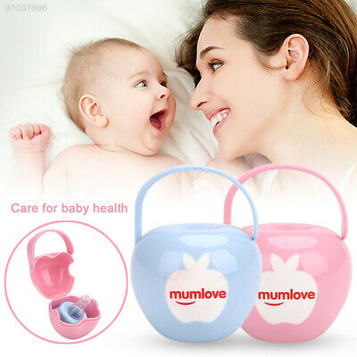 BDF7 2 Colors Baby'S Pacifier Box Soother Travel Portable Baby'S Nipple Box