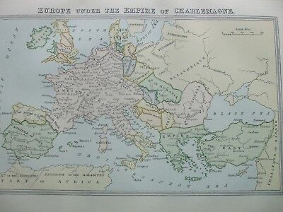 Charlemagne S Empire Map on